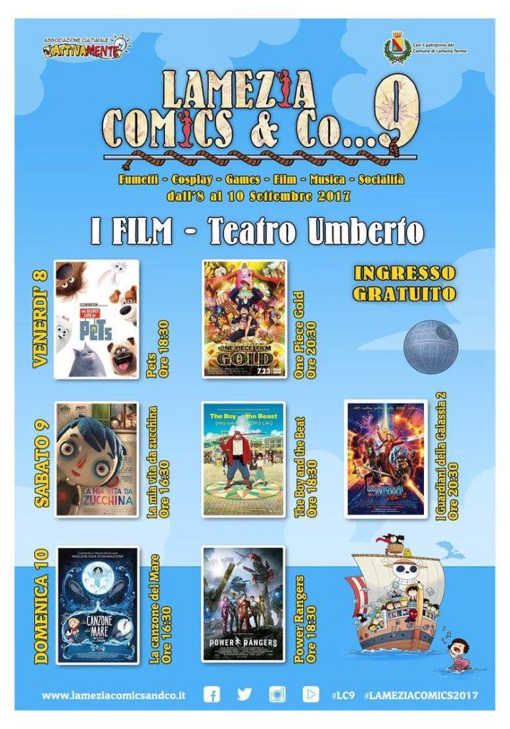 lamezia comics 2017 programma cinema